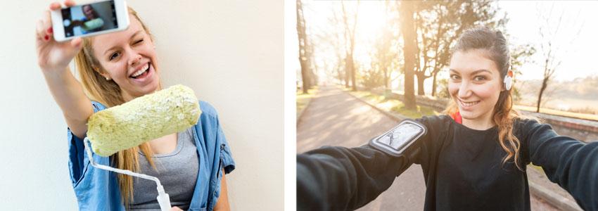 JA. Selfies i din vardag, som visar ett intresse eller vem du är som person kommer ge dig nya kontakter.