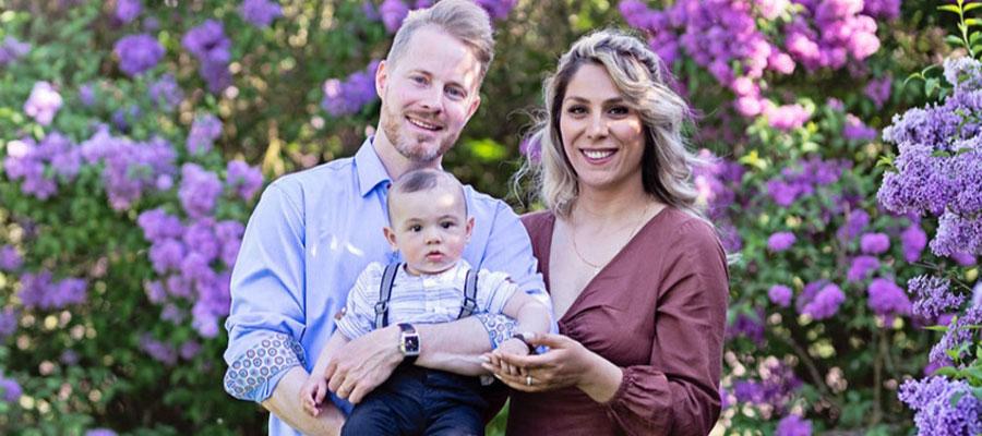 Nu har Marjan och Niklas bildat en liten familj. 2018 kom sonen Matteo.