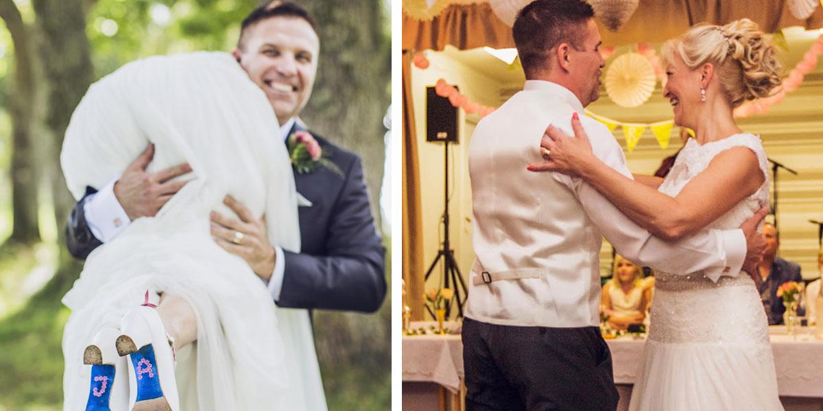 Under bröllopet bjöds det naturligtvis upp till dans.